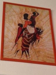 Ξύλινη, πομπέ, ματ, πορτοκαλί κορνίζα σε ματ τζάμι, Διάσταση: 50Χ70, 31€