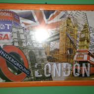 Λονδίνο: Ξύλινη γυαλιστερή πορτοκαλί κορνίζα
