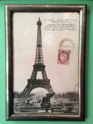 Παρίσι: Ξύλινη Πομπέ Ανθρακί κορνίζα, απομίμηση αλουμινίου