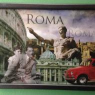 Ρώμη: Ξύλινη ανθρακί κορνίζα ματ